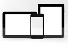 Tablet computer and phone Royalty Free Stock Photos