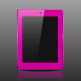 Tablet computer pink Royalty Free Stock Images