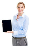 Tablet computer presentation royalty free stock photography