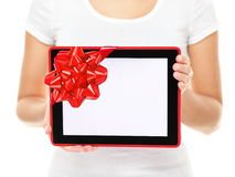 Tablet computer screen gift Stock Image