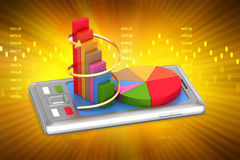 Tablet computer showing financial graph Royalty Free Stock Photo
