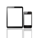 Tablet computer and smart phone Stock Photography