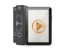 Tablet computer with sound system Stock Photos