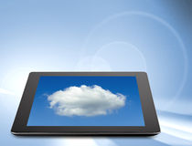 Tablet computer (tablet pc) . Modern portable touch pad device Stock Images