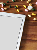 Tablet computer, tablets, online trading Royalty Free Stock Photos