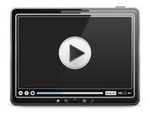 Video Player in Tablet PC. Tablet computer with video player on the screen Stock Images