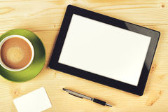 Tablet Computer With Blank White Screen Stock Image