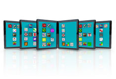 Tablet Computers with Application Icons for Apps Royalty Free Stock Photos
