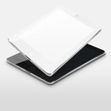 Tablet computers with blank and black screens. Royalty Free Stock Photography
