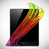 Tablet concept: abstract lines Stock Photo