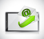 Tablet and contact us email illustration design Royalty Free Stock Photos
