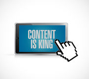 Tablet, content is king sign concept Royalty Free Stock Photography