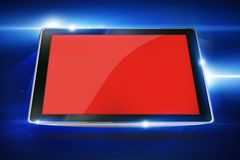 Tablet on Cool Blue Stock Images