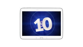 Tablet 16:10 countdown Royalty Free Stock Photography