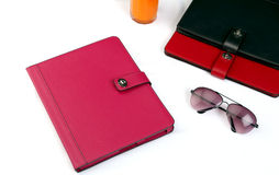 Tablet covers and sun glass Royalty Free Stock Photos