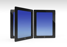 Tablet creative open same book Royalty Free Stock Photos