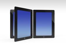 Tablet creative open same book Royalty Free Stock Photos