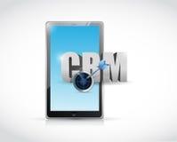 Tablet crm sign illustration design Stock Images