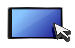 Tablet and cursor Stock Image