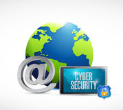 Tablet cyber security world concept Stock Photos