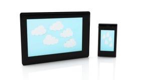 Tablet 3d und Mobile Stockbilder