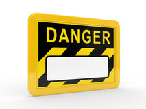 The tablet DANGER on a white background Royalty Free Stock Photos