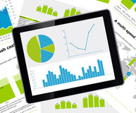 Tablet data graph Stock Image