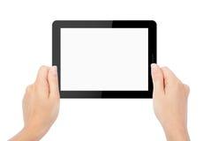 Tablettecomputer lokalisiert in einer Hand Lizenzfreies Stockbild