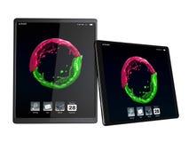 Tablet den vertikal PCen som är horisontal och Arkivfoto