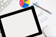 Tablet the desk of a businessman Royalty Free Stock Photo