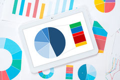 Tablet detailed pie chart Stock Photo