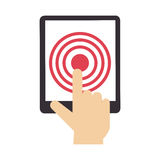 Tablet device isolated icon Royalty Free Stock Photography