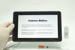 Tablet Diabetes Stock Image