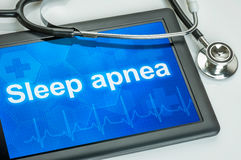 Tablet with the diagnosis Sleep apnea Stock Image