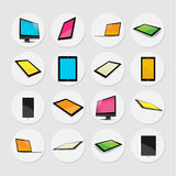 Tablet in Different Angle Vector Design Stock Photos