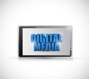 Tablet digital media illustration design Stock Photography