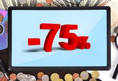 Tablet with discount Stock Images