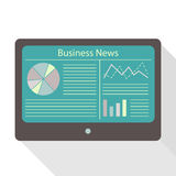Tablet display business news Royalty Free Stock Photos