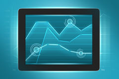 Tablet displays exchange rates Royalty Free Stock Photography