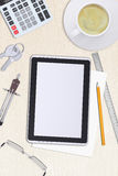 Tablet with divider on table Stock Photography