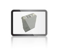 Tablet with Dollar Money Royalty Free Stock Photo