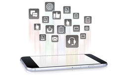 Tablet Downloading Apps Royalty Free Stock Image