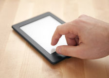Tablet or e-book reader Stock Image