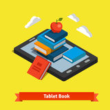 Tablet e-reader book reading and modern technology Royalty Free Stock Images