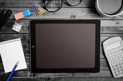 Tablet empty screen Royalty Free Stock Images