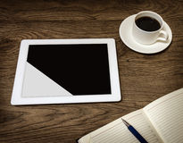 Tablet with an empty screen Royalty Free Stock Photo