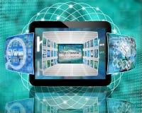 Tablet en beelden Stock Afbeelding