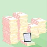 tablet en boeken vlak ontwerp Royalty-vrije Stock Foto's