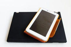 Tablet en laptop Royalty-vrije Stock Foto