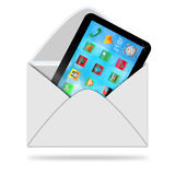 Tablet in envelope Royalty Free Stock Photo